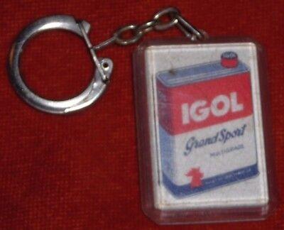 Porte-clés Keychain HUILE IGOL COQ Grand sport LORRAINE 26 rue Stanislas Nancy