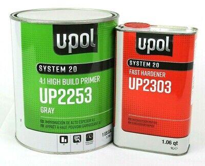 2K Urethane Primer HS Gallon Kit Gray DTM U-Pol UP2253  W/ UP2303 Fast Hardener
