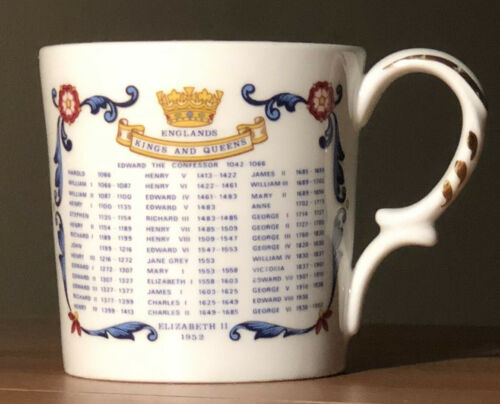 queen elizabeth ii souvenir coronation commemorative 1953 bone china cup aynsley
