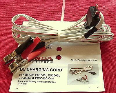HONDA 32660-894-BCX12H 10' DC Charging Cord OEM EU1000i EU2000i EU3000i Camping