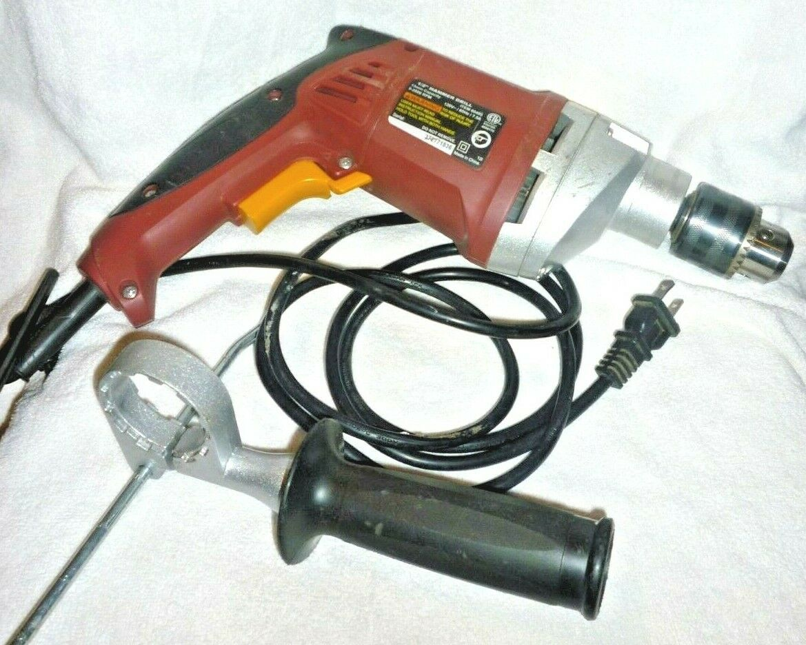 Heavy Duty 1/2 in. Variable Speed Reversible Hammer Drill To
