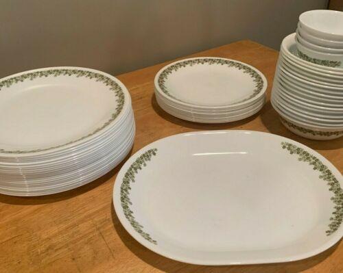 Corelle Crazy Daisy Green Dinnerware Pieces Replacements Pyrex