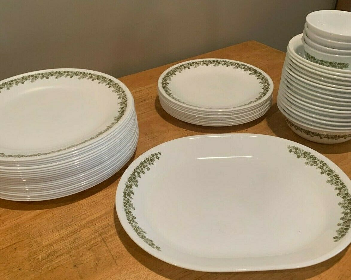 Corelle Crazy Daisy Green Dinnerware Pieces Replacements Pyr