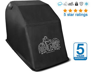 Ridehide Waterproof Motorcycle Cover. Mobility Scooter, Motorbike, Bike Shelter