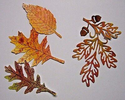 FALL LEAVES PAPER SHAPES - Oak cluster with acorns OR mixed species - U choose