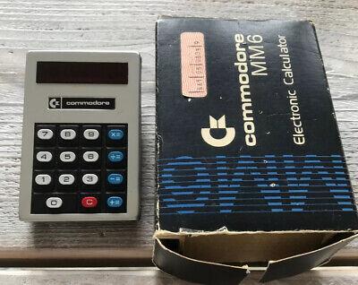 Working Commodore MM6 Minute Man Vtg Electronic Calculator - Damage Cardboardbox