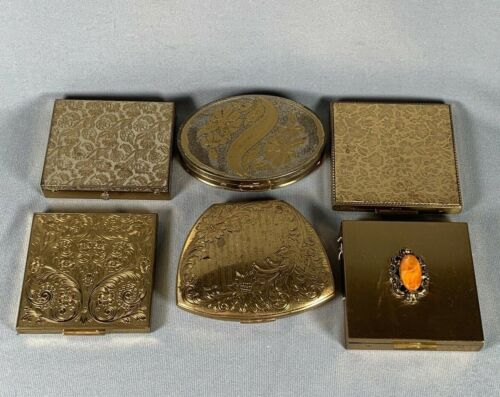 LOT 6 Vtg Compacts Dorset Rex Elgin American Zell Fifth Avenue