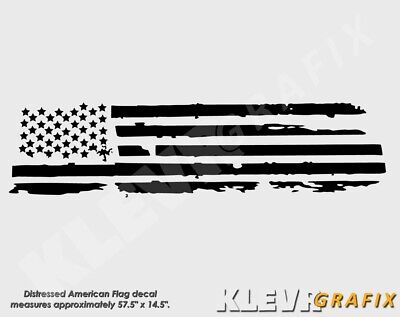 Distressed American Flag Truck Rear Window Decal Dodge RAM 1500 2500 Graphics Window Decal Graphics