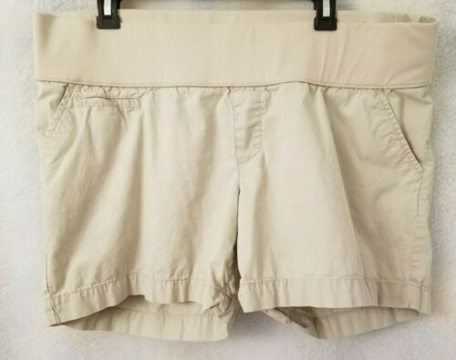 Liz Lange Maternity Womens Brown Shorts Size XL