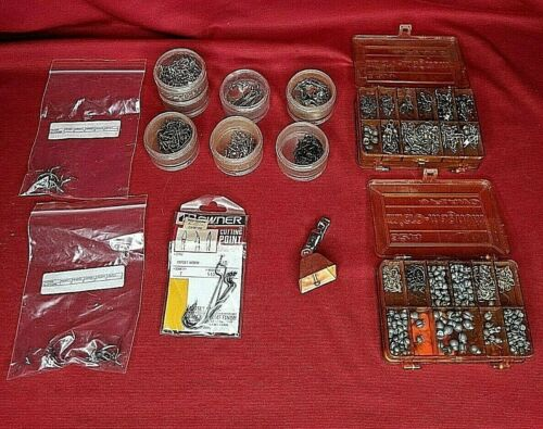 Lot of Vintage Fishing Lures, Hooks, Weights, Spoons, Swivels, and Supplies