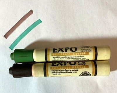 Expo Sanford Green And Brown Dry Erase Marker In Plastic Barrel -smelly