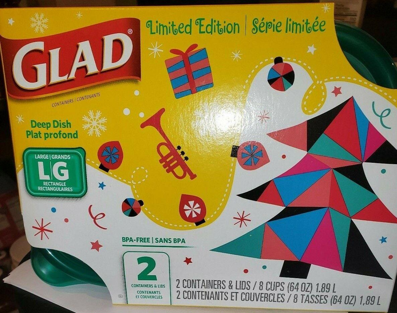 GLAD LIMITED EDITION CHRISTMAS HOLIDAY PLASTIC STORAGE CONTA
