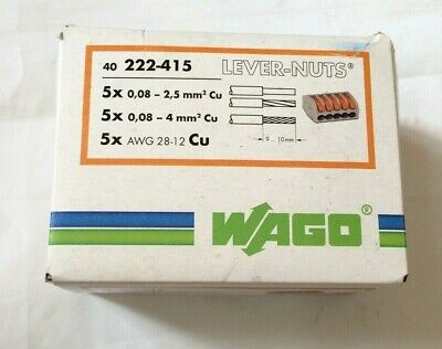 5 WAGO 222-415 Lever-Nuts 5-port Cage Clamp marrett
