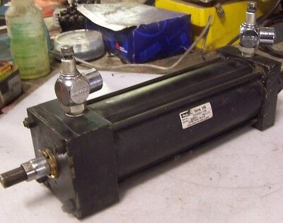 Parker Hydraulic Cylinder 4 Bore 10 Stroke 12 Npt Clevis Mount