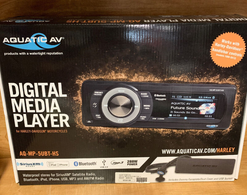 Aquatic AV - AQ-MP-5UBT-HS - Harley Davidson Bluetooth, USB and MP3 with...