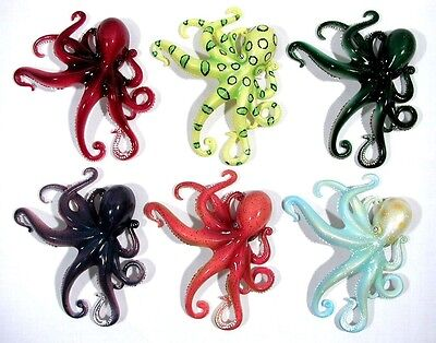 Hand Painted Art Assorted Octopus Refrigerator Magnet ...
