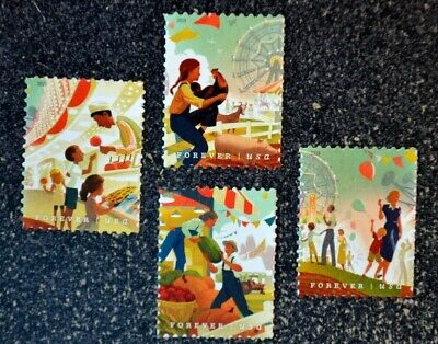 2019USA #5401-5404 Forever State & County Fairs - Set of 4 Singles  Mint