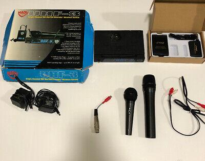 Nady UHF-3 HT Low Band Pro Wireless Handheld Microphone System MU5/484.55 PDWM96 Nady Professional Wireless Handheld Microphone