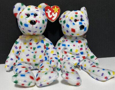 Ty 2K Beanie Baby Bear With Tag Retired DOB: January 1st, 2000 and BONUS BUDDY