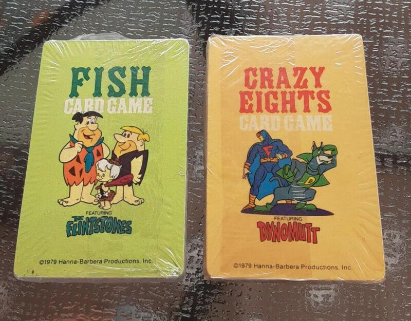 Vintage 1979 Hanna Barbera Dynomutt And The Flintstones Sealed Cards Games HTF