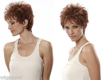 Short Jon Renau Halle Straight Blonde Brunette Red Grey Wigs -