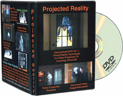 Morris Costumes Haunted Houses Halloween Projected Reality Vol 1 Dvd. RV185 (Halloween Projection Movies)