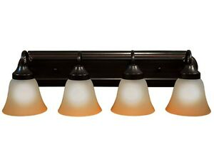 Oil Rubbed Bronze 4 Light Bathroom Vanity Wall Lighting Bath Fixture