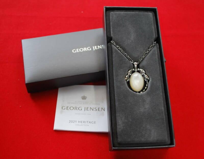 Georg Jensen Necklace Pendant 2021 Sterling Silver Denmark Jewelry #13658