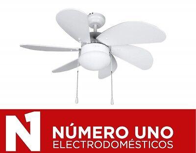 Ventilador de Techo Orbegozo CP 15076 B, Blanco, 50 W