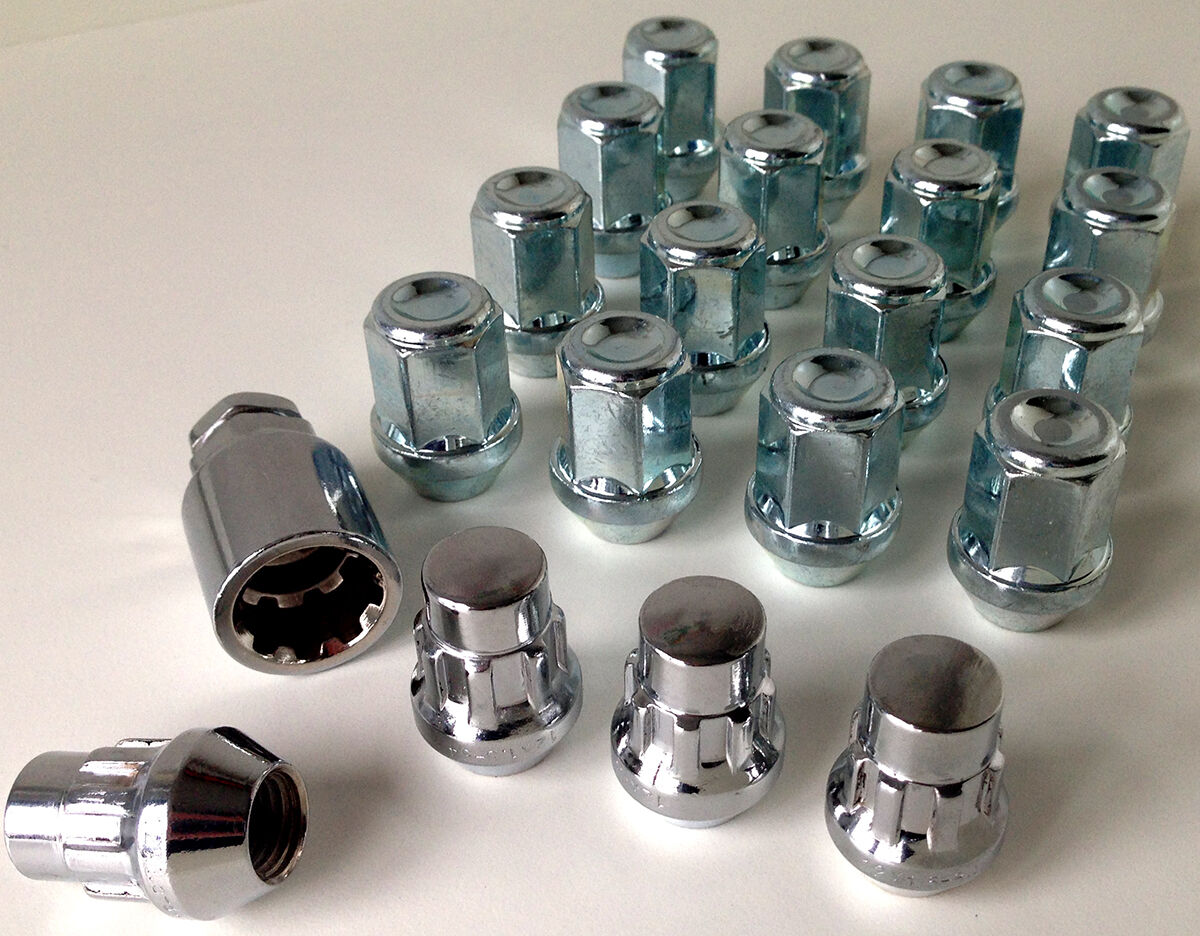 Black alloy wheel Locking Locks nuts bolts 21mm Hex Taper Set of 4 M12 x 1.5