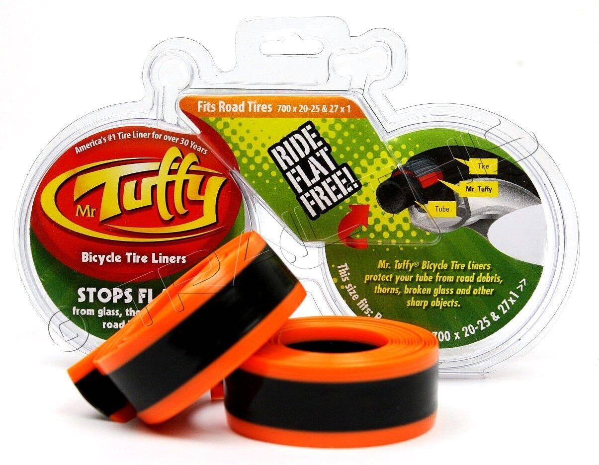 Mr. Tuffy Bicycle Tire Liner - Orange - 700 x 20-25, 27 x 1