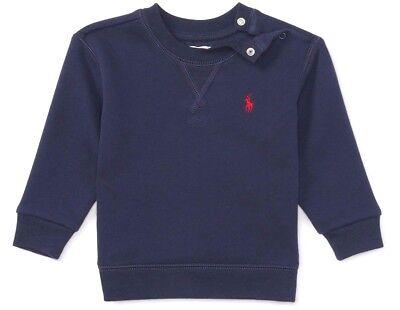 BNWT Ralph Lauren Polo Baby Boy Cotton Fleece Sweatshirt 24M RRP £59