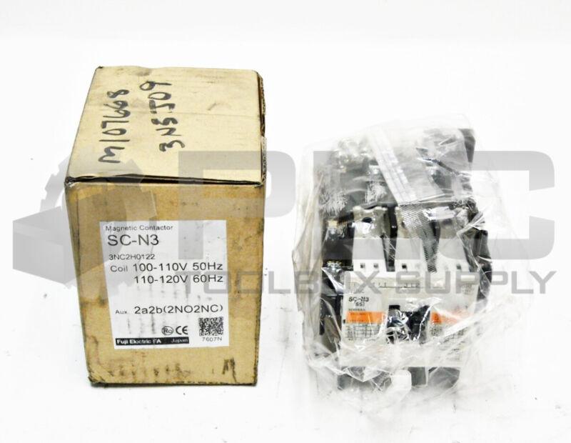 NEW FUJI ELECTRIC SC-N3 MAGNETIC CONTACTOR, 100-100V 50Hz / 110-120V 60Hz