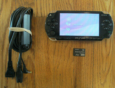 Sony PlayStation Portable PSP-1001 Bundle - 4GB Memory Card - Charger - Tested