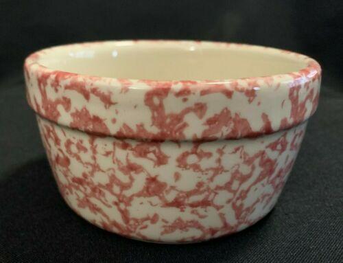 Gerald E. Henn Pottery (Roseville) Rose Open Round Butter Bowl Butter crock Pink