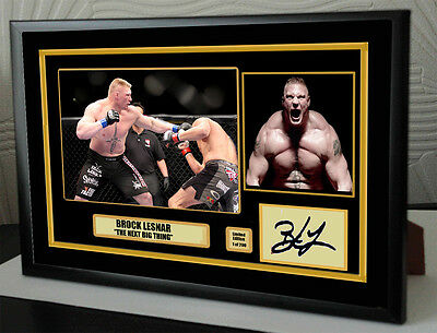 "Brock Lesnar Canvas Tribute Print Signed ""Great Gift & Souvenir"""