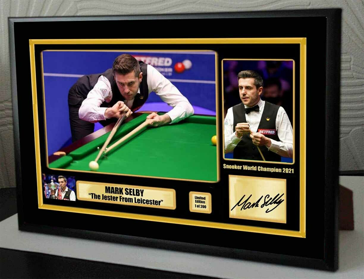 Mark Selby Snooker World Champion 2021 Framed Canvas Signed Print  Great Gift