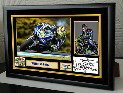 """Valentino Rossi """"The Doctor""""  Framed Canvas Signed Print     """"Great Gift"""""""