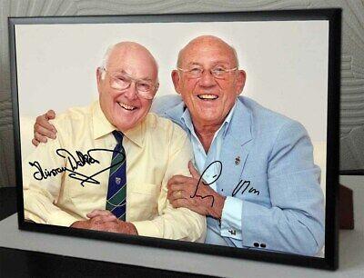 Murray Walker & Sir Sterling Moss Legends Framed Canvas Signed Print Great Gift
