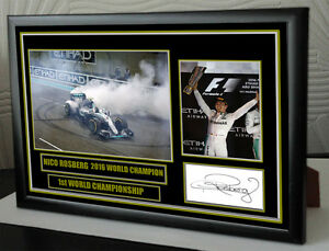 Nico Rosberg canvas tribute signed Limited Edition