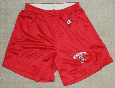 Vintage 80s 90s Champion Wisconsin Badgers Shorts Size Small Embroidered