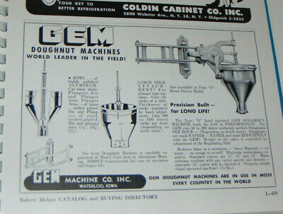 Vtg 1951 Commercial Bakery Catalog Ovensmixersconveyorsingredientswrapping