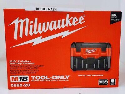 Milwaukee 0880-20 M18 2-Gallon Wet/Dry Vacuum (Tool Only)