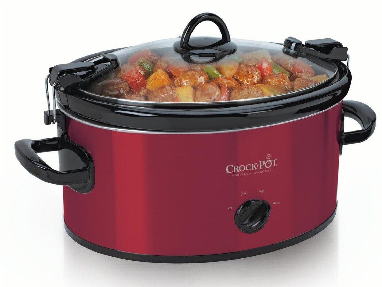 Crock-Pot Cook' N Carry 6 Qt Oval Manual Portable 3 Heat Set