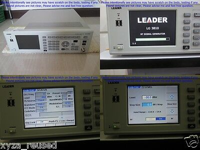 Leader Lg3810 Digital Signal Generator As Photo Sn7667 Without Calibration.