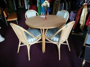 Cane 5 Piece Dining Suite Clearview Port Adelaide Area Preview