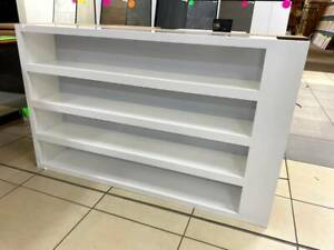 White shelving with led lighting (Wiring required F692)