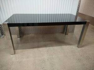 High Gloss Black Dining Table with Stainless Legs RRP $699.00 Klemzig Port Adelaide Area Preview