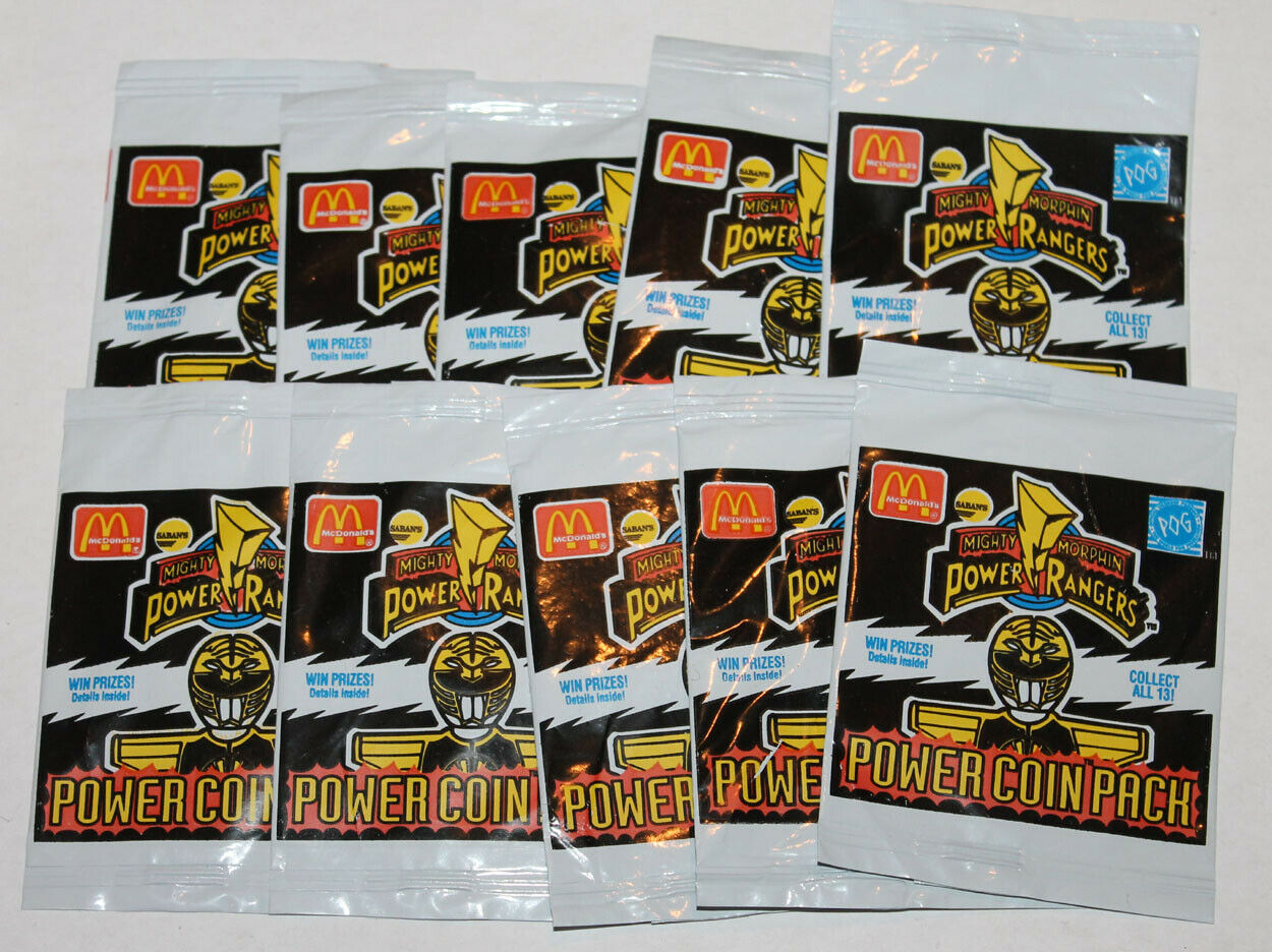 Power Rangers Mighty Morphin McDonalds Pog Pack Lot of 10x