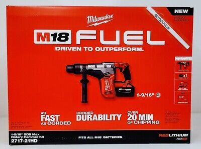 Milwaukee 2717-21hd M18 Fuel 1-916 Sds-max Rotary Hammer Kit